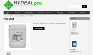 Site catalogue Hydealpro